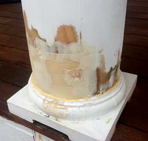repairs to column in process